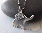 SALE - Baby Elephant Necklace - Sterling Silver Ellie