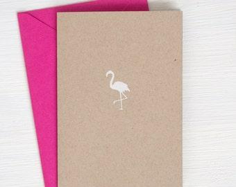 kraft FLAMINGO folded notecards