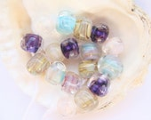 17 Nuggets Handmade Lampwork Frit Beads