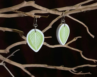 Bright Elm Leaf Earrings