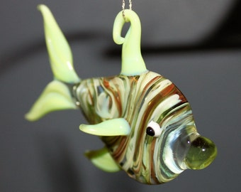 Shades of Lime Fish Ornament