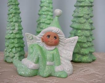 Winter Wonderland Fairy - Woodland Creature Fairytale - Sparkle Fairy Girl - Whimsical Fairy - Majestic - Magical - Fairy Decor - CIJ
