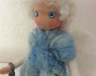 Fairywooldolls originals Sky protector of all wellbeing Angel of Peace and Light
