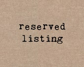 Reserved for Rella