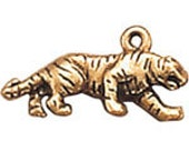 Tiger Gold Dipped Pewter Charm