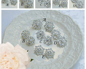 Bridesmaids Earrings, Crystal stud, Bridesmaid Jewelry, Post earrings Mix and Match, Bridesmaids Gift, Wedding Jewelry, Bridal earrings