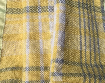 Yellow Plaid HandWoven Baby Blanket