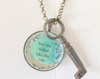 Buy The Ticket Bubble Charm Necklace, Vintage Skeleton Key