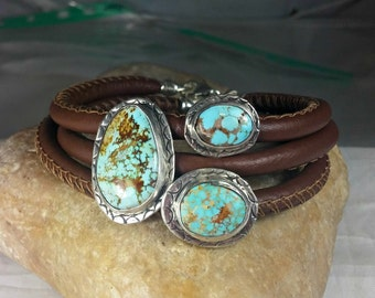 Turquoise and Silver Bangle Bracelets, stacking bangles, Turquoise and Silver Cuff bracelet, natural American turquoise bracelets