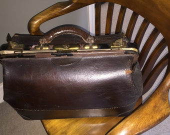 Antique Leather Dr's Bag
