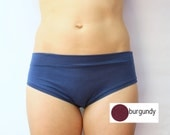 burgundy bamboo jersey panties / bamboo underwear / by replicca / size extra large / SALE