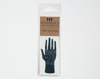 Tattoo - Palmistry Hand Tattoo - Temporary Tattoo