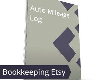 Etsy Auto Mileage Log - Mileage Tracker, Vehicle, Auto, Car Automobile Taxes Mileage Sheet Form IRS Record Book Daily Business Mile Tax Work