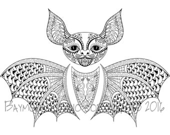 spooky bat coloring pages - photo#35