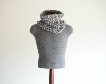 Mens Fashion Knitted Grey Scarf Mens Gray Scarf Guy Scarf Mens Knit Scarf Winter Scarf for Men