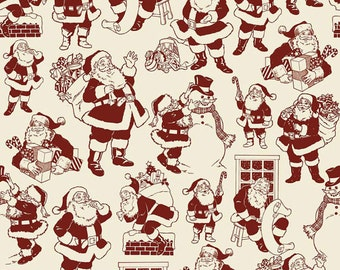 """Riley Blake Designs """"Lost and Found Christmas"""" by My Mind's Eye. 100% cotton, pattern C4002 Red -  BY THE YARD"""