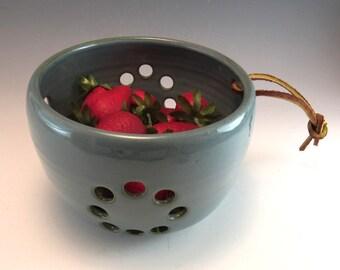 Pottery Berry Bowl / Colander / Fruit Strainer/Berry Basket/Fruit Strainer