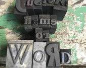 Letterpress Print Blocks Custom Word or Phrase 15 Letters