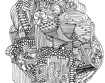 Owl Coloring Page Find The Adult Abstract
