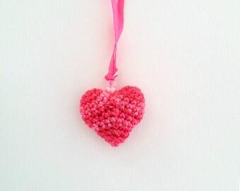 Crocheted Heart Pendant
