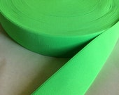Fluorescent lime green elastic, 2 inches wide
