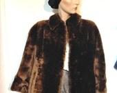Mouton Coat Fur Vintage 50s Size 8 to 10 Full Length
