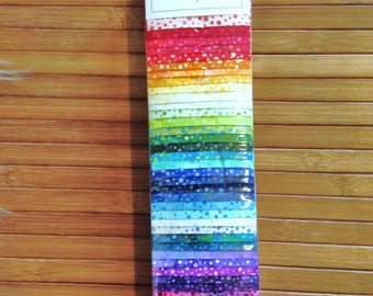 Dot Pops Nirvana Jelly Roll Hoffman Fabric Fabric Strips Jelly Roll 885BP 538