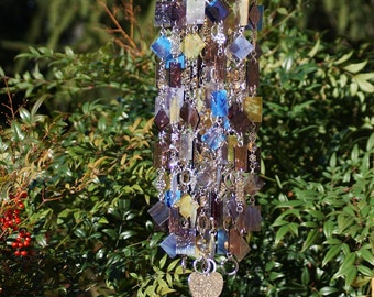 Ode to Mom One-Of-A-Kind, Glass Wind Chimes, Suncatcher, Glass Mobile