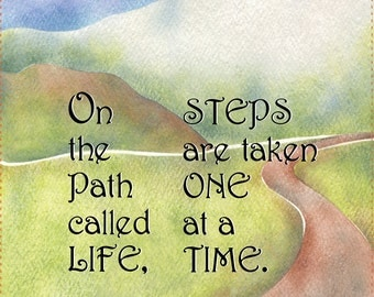 "AP6.19 - One Step on the Path - 6"" Fabric Art Panel"