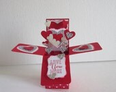 Love You More Valentine Hearts Card in a box Pop Up Card