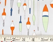 Fishing Floats and Bobbers FABRIC Kristen Berger Fishline Fabric for Maywood Studio MAS8853-K2