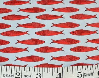 Packed House FABRIC Kristen Berger Fishline Fabric for Maywood Studio MAS8852-R