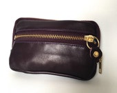 Classic Leather wallet in plum