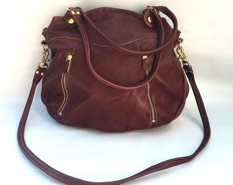 Larch bag in russet - veg tan leather