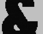 Bauhaus Font Cross Stitch - Ampersand Large