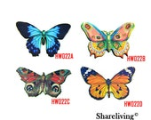 Vintage Butterfly Wood Charms, Laser Cut Wooden Butterfly Pendants