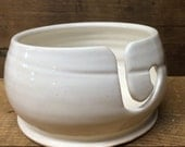 Creamy White Ceramic Yarn Bowl