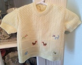 70s Baby Sweater 3-6 Months