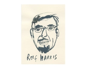 Original Portrait || ROLF HARRIS || 100failedfamousfaces