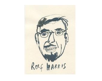 Original Portrait    ROLF HARRIS    100failedfamousfaces