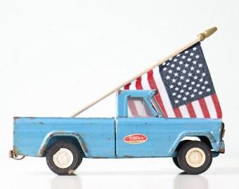 Vintage Toy Truck, Tonka Jeep, Blue