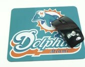 DOLPHINS MOUSE PAD Miami Football Team Fans Mousepad Large Sports