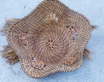 5 Star Pine Needle Walnut Basket