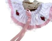 Pink and White Brides Garter , Wedding Garter , Prom Garter , Bridal Keepsake, Lace Garter ,  Bridal Garter , Brides Accessories
