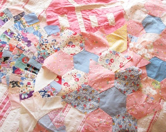 From Mama's Workbasket...Colorful Vintage 30s-40s Quilt Blocks