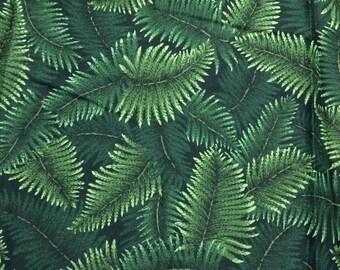 Green Fern Fabric - 1 1/3 yards x 42 inches - VIP Cranston