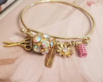 HairStylist Floating Charm Bracelet