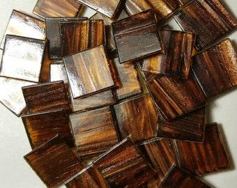 "Mosaic Tiles 3/4"" Brown Tan Copper Gold glass Mosaic Tile"