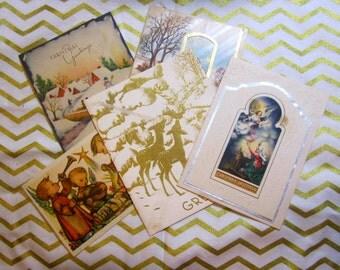 Vintage Christmas Cards - used