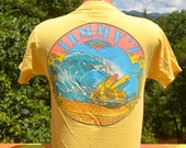 90s vintage t-shirt JIMMY'Z beach surf skate neon tee Medium Small 1990